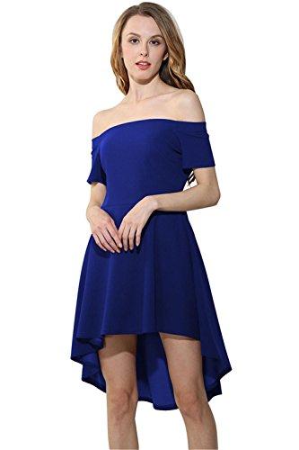 un Azul Los XXL CXSM de clothes Hombro Mujeres Vestidos RnxXwH