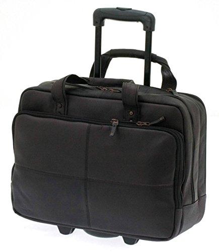 Davidts Leyden Echt Leder Pilotenkoffer Aktenkoffer Business Trolley Bag Dunkel Braun 450 440 Bowatex