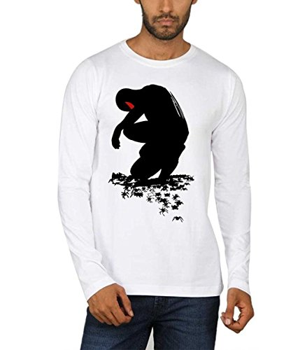 Sayitloud Men's Round Neck T-Shirt (silfs0200093_White_Large)