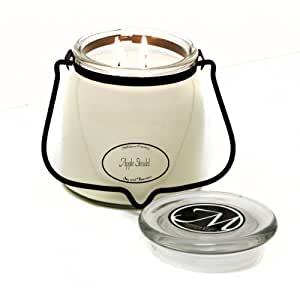 Milkhouse Candle Creamery Butter Jar Candle, Apple Strudel, 16-Ounce