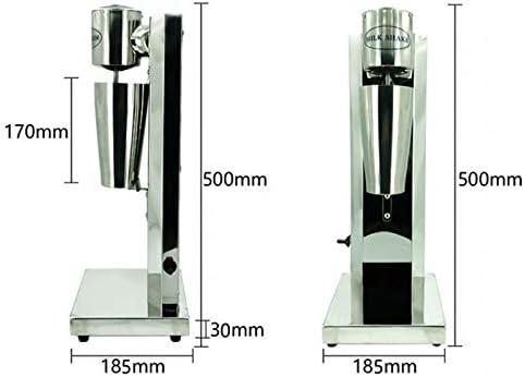 Milkshake Maker Machine Avec 2 Vitesse Réglable Corps En Acier Inoxydable Automatique Thé De Lait Intelligent Induction Micro Switch Verticale Mixeur Drink Blender,220v,Single