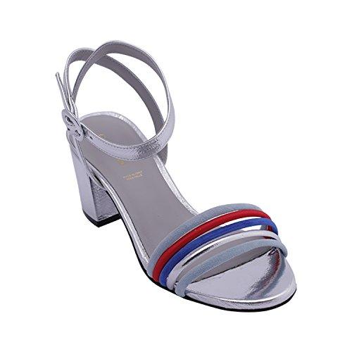 Sandales Carmens pour Femme Sandales Argent Carmens Eaxw8qzf8H