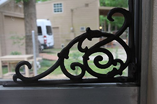 Elegant Americana Design Solid Cast Iron 9 1/4 inches, Vintage-look scroll work, Set of 2, B-62 by Cast Iron Decor (Image #5)