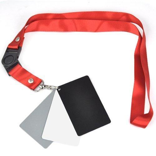 Accessotech 3 in 1 Digitale 18% Grigio/Bianco/Nero Card Set Fotografia Esposizione Cinturino Di Equilibrio SVAD213A