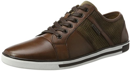 Kenneth Cole New York Men's Initial Step Fashion Sneaker, Brown Combo, 10.5 M US