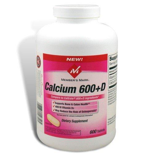 (Member's Mark - Calcium 600 mg plus Vitamin D3, 600 Tablets)