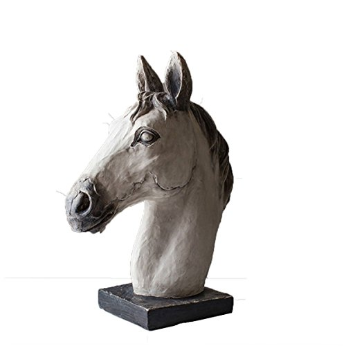 - DEAI Elegant Vintage Resin Horse Head Carving Fine Leader Crafts Ornaments Office Home Decorations Figurine Sculpture Art