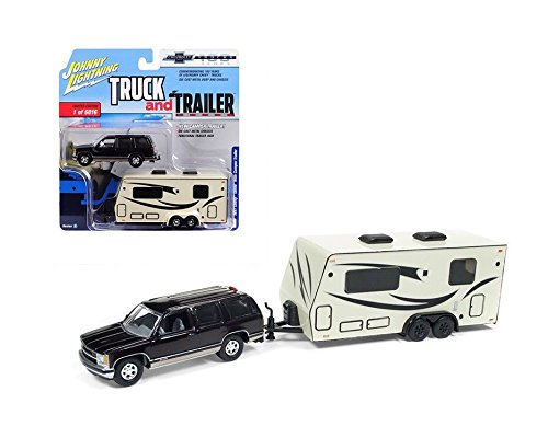 NEW DIECAST TOYS CAR JOHNNY LIGHTNING 1:64 TRUCK AND TRAILER
