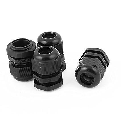 Amazon.com: DealMux modelo impermeável 6-12mm 4pcs Cable Faixa de plástico Gland Preto: Electronics
