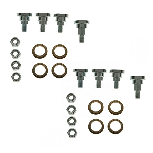 Dorman Upper & Lower Door Hinge Pin & Bushing Lock Nut Kit for Firebird Camaro