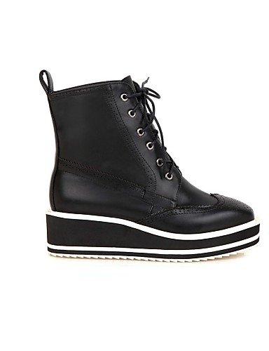 Negro uk8 black black Punta 5 Vestido 5 Plataforma Casual us10 cn43 Cuadrada us10 us10 eu42 5 eu42 Botas black Zapatos eu42 Botas de 5 5 cn43 Semicuero cn43 XZZ mujer 5 uk8 Anfibias uk8 TwO7Uq