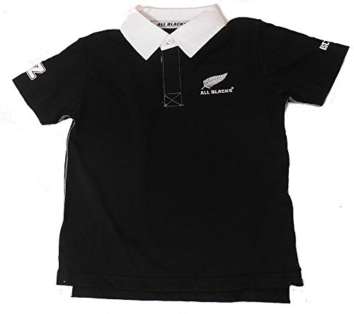 Official All Blacks Kids Short Sleeved Rugby Shirt - Age 3 - 7-8 Years / 128 cm