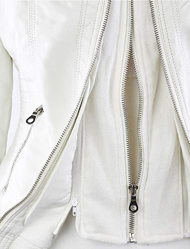 Chaqueta Cuero De 002 Lncluso Mujer Cremallera Sombrero s Tamaño Ropa Xsqr Abrigo Párrafo Grande Cosiendo Corto p7wqRxCqt