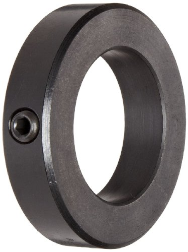 Ruland MSC-12-F Set Screw Shaft Collar, Black Oxide Steel, Metric, 12mm Bore, 22mm OD, 12mm Width (Pack of 4) Black Set Screw
