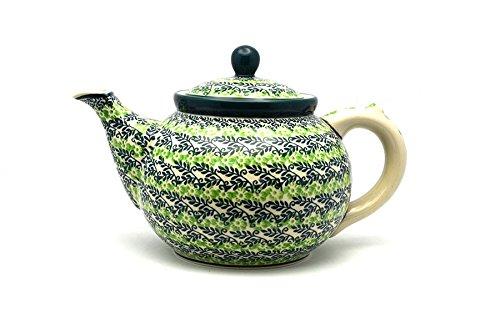 Polish Pottery Teapot - 1 1/4 qt. - Irish Meadow