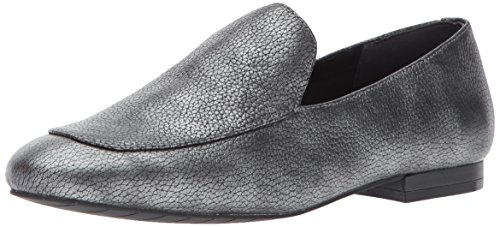 Kenneth Cole New York Women's Westley Flat Leather Slip-On Loafer, Pewter, 9 M US