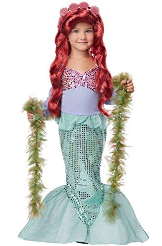 [8eighteen Lil' Mermaid Ariel Sea Princess Toddler Halloween Costume] (Toddler Lil Ninja Costumes)