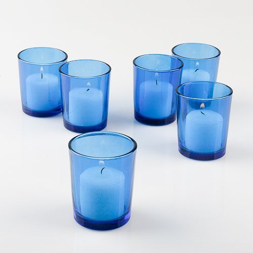 Set of 144 Blue Colored Eastland Glass Votive Candle - Holders Colored Votive