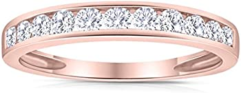 SK Jewel 1/2ctw Diamond Channel Wedding Band