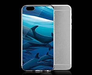 Light weight with strong PC plastic case for iphone 4 4s Artists Wyland Dolphis Sideways Underwater