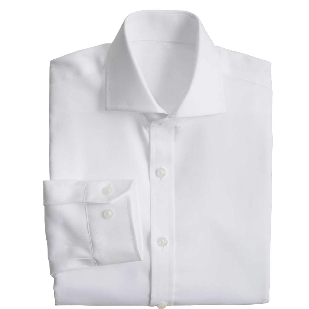 Chasing Fireflies Boys Easy Care Classic White Pinpoint Shirt