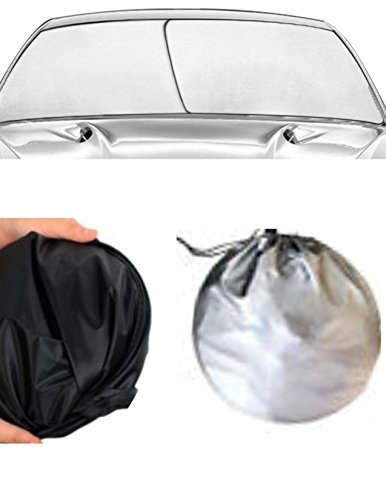 WINDSHIELD SUN SHADE ( EZ INSTALL , EZ FOLD, EZ STORE ) Foldable Dash Protector UV hot cold SUMMER WINTER sunshade WINDOW (Geo Metro Window)