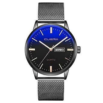 Longra Moda Reloj de Acero Inoxidable para Hombres/Reloj de Cuarzo ...