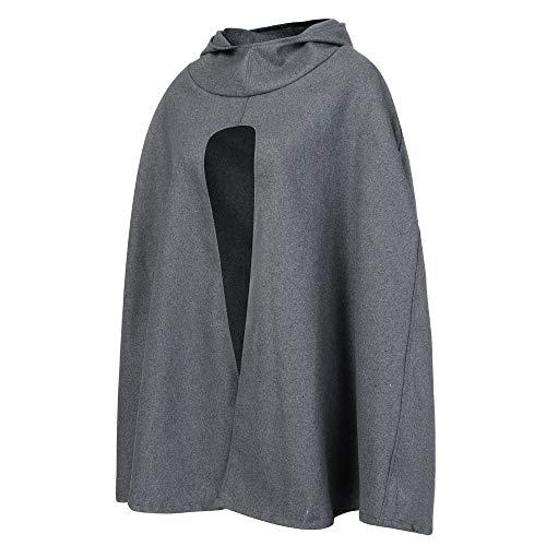 vent Parka Coupe Tefamore Gris Woollen Solide Femmes Vêtement Oversize Pardessus Veste Foncé XwXU7Fq