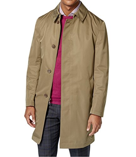 Calvin Klein Extreme Slim Olive Solid Zip & Button New Men's Melford Rain Jacket (40 Regular) by Calvin Klein
