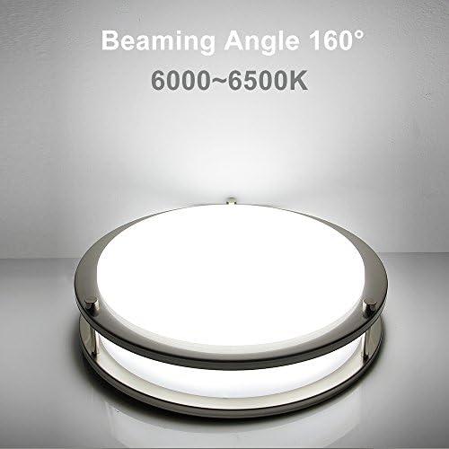 lineway 12 inch 18 W SENSOR de movimiento LED Flush Mount luz de techo con 2 ajustes de rango de detección/duración de la iluminación/modo de detección: Amazon.es: Iluminación