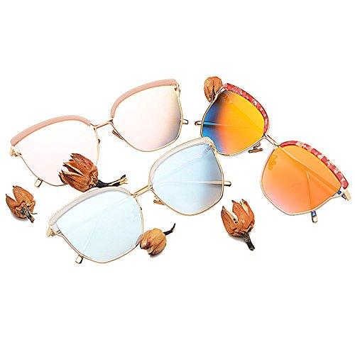 ojo gato Lente Lente borde DESESHENME plateado Flat sol Color de sol enormes Moda Luxury borde de Top hombres de plateado oculos blanca Mujer gafas blanca de gafas elegante SARA8qvw