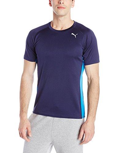 Puma de manga corta camiseta de running Peacoat/Blue