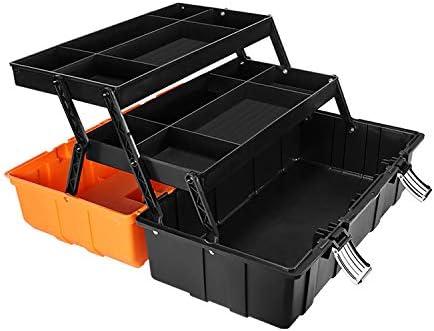 億騰 ツールボックス 収納ボックス 折り畳み式 取っ手付 3段式ツールボックス 工具箱