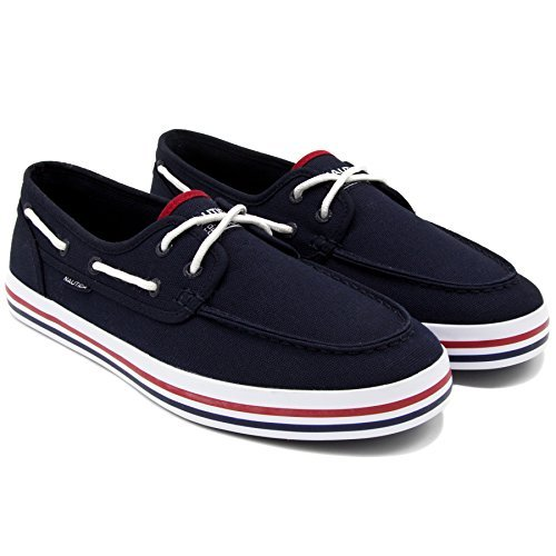 Nautica Men's Spinnaker Lace-Up Boat Shoe, Casual Loafer, Fashion Sneaker-Blue Heritage-13