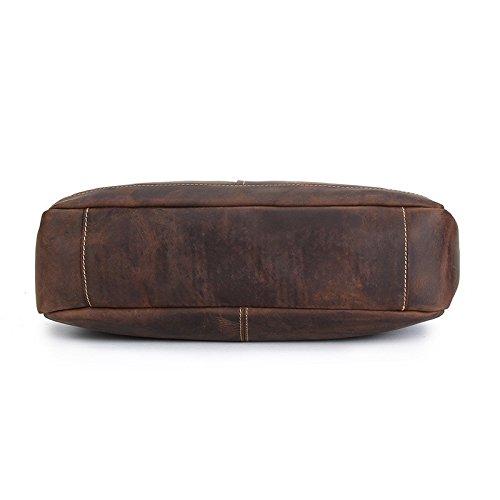 Cruz Cuero Personalizada Diagonal Marrón Dark Hombro Solo Bolsa para Meoaeo brown Bolsa De Cabeza Oscuro Portátil YwvHv5