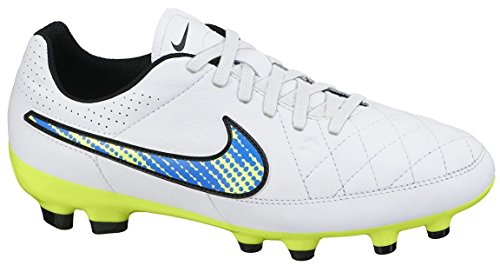 Nike Youth Tiempo Genio Leather Firm Ground (WHITE/SOAR) (5Y)