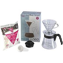 Hario VCSD-02B-EX V60 Pour Over Coffee Starter Kit, White