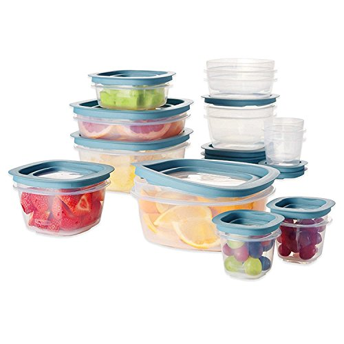 Rubbermaid Premier 26 Piece Crystal Clear Stain Resistant Durable Shatter Resistant Set (Rubbermaid 30 Pc Premier Food Storage Set)