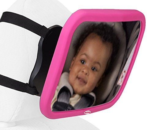 Nuby Back Seat Baby View Mirror, Pink by Nuby