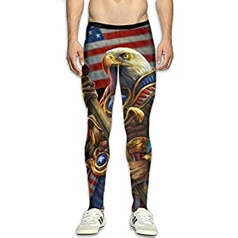 Amazon.com: American Flag Eagle Smooth Compression Pants