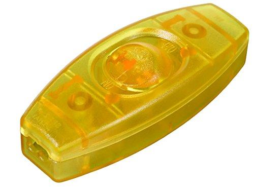 B&P Lamp Gold in Line Feed Through Rocker ()