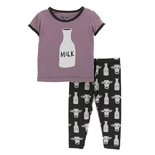 - Kickee Pants Little Boys Print Short Sleeve Pajama Set - Zebra Tuscan Cow, 12-18 Months