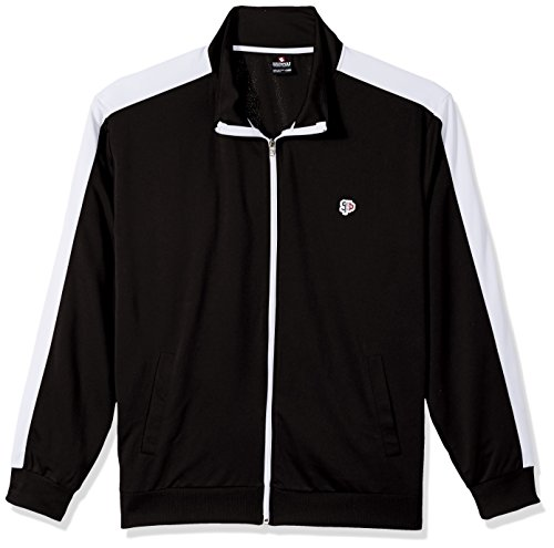 Southpole Men's Full-Zip Athletic Track Jacket, Black, X-Large by Southpole