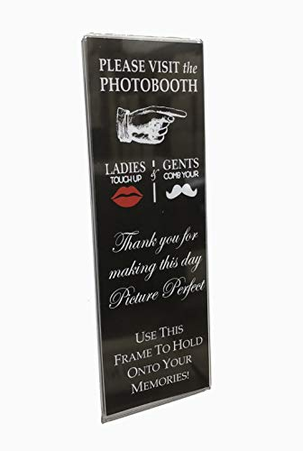 Photo Booth Frames Acrylic Magnetic with insert 100 pack (Black) ()
