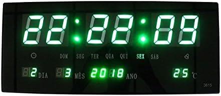 f7631779d31 Relogio De Parede Led Verde Digital Alarme Data Termo (BSL-REL-58)