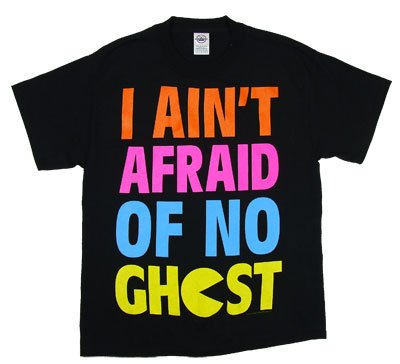 Pac-Man I Ain't Afraid of No Ghost Black Adult T-shirt Tee