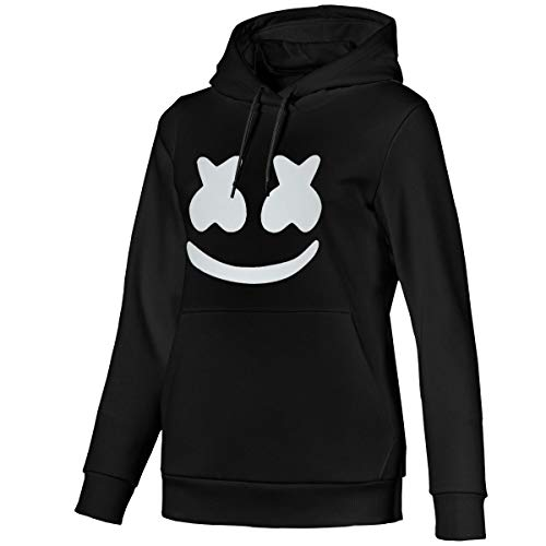 Cool Marshmello Face Womens Pullover Hooded Sweatshirt
