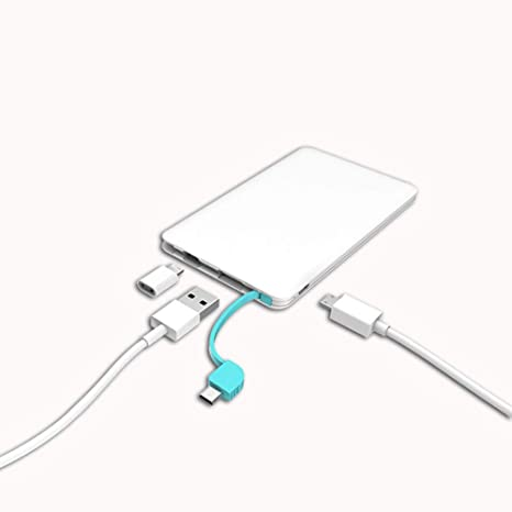 Blanco Energia Movil Cargador Portatil, USB Ultra Delgado ...