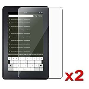 2 Pack of Amazon Kindle Fire Anti-Fingerprint, Anti-Glare, Matte Finishing Screen Protector