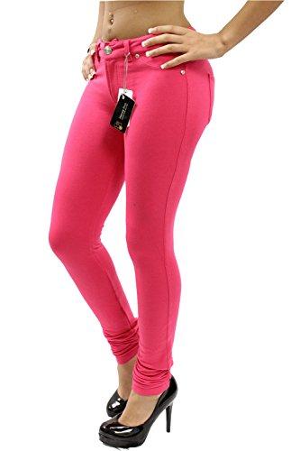 Nuevas mujeres señoras Super elástico Fitted Jeans Jeggings 8 –  6 fucsia  ... b690b6f61bfa2